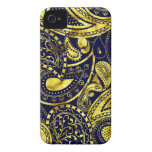 Gold Retro Paisley swirl pattern casemate cases