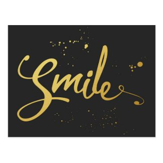 Gold Smile Quote