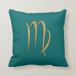 gold virgo throw pillow