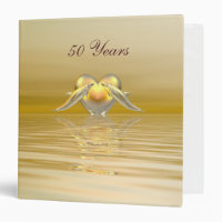Golden Anniversary Dolphins and Heart Binder