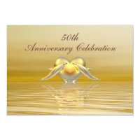 Golden Anniversary Dolphins and Heart Card
