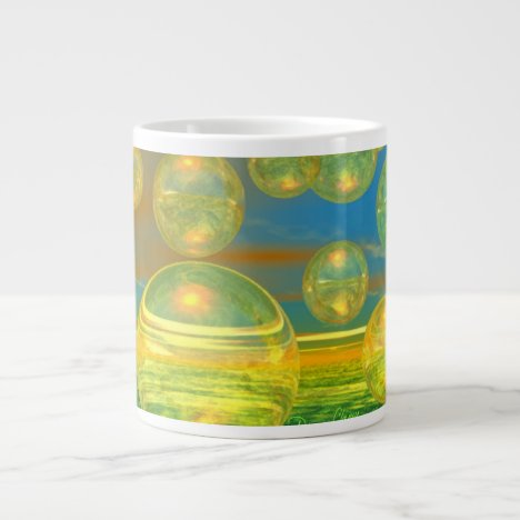 Golden Days - Yellow & Azure Tranquility Large Coffee Mug
