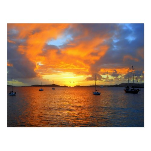 Golden Frank Bay Sunset, St. John, U.S.V.I. Postcards