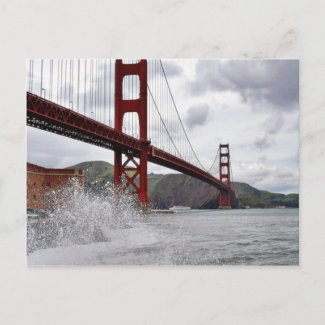 Golden Gate Bridge In San Francisco Seen From Fort Postcard