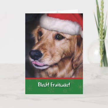 Golden Retriever- Funny Christmas Fruitcake Holiday Card