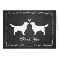 Golden Retrievers Wedding Thank You Card