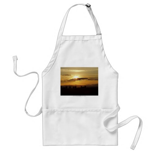 golden sunset apron