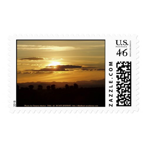 golden sunset stamp