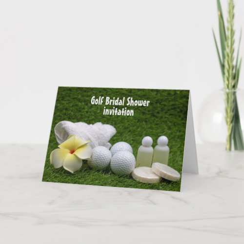 Golf Bridal Shower Invitation with soap &  shampoo