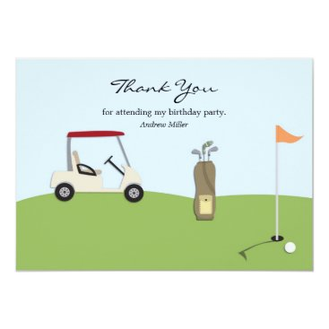 Golf Thank You Flat Card