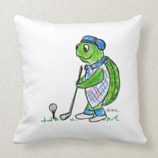 Golf Turtle - Croquet Turtle Pillow