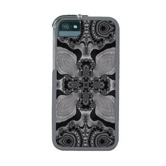Gorgeous Blk and White Fractal Art iPhone 5/5S Cases