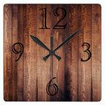 Gorgeous Dark Wood-look Wall Clock