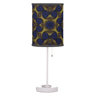 Gorgeous Glossy Fractal Art Table Lamps