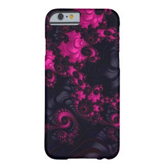 Gorgeous Hot Pink Black Fractal iPhone6 Case