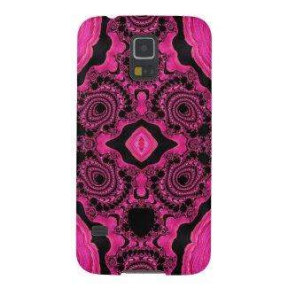 Gorgeous Pink/Black Fractal Samsung Galaxy5/5 case