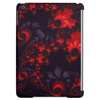 Gorgeous Red Black Lava Fractal Cover For The iPad Mini