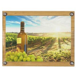 Gorgeous Tuscan Vineyard Wine & Grapes Cheeseboard Rectangular Cheeseboard