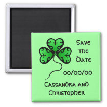 Goth shamrock St. Patrick's day save the date Refrigerator Magnet