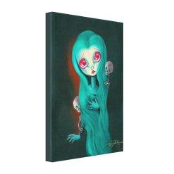 Gothic Death Maiden Canvas Print