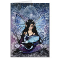 Gothic Dragon Fairy Card Notecard