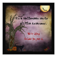 Gothic Night Sky Halloween Invitation
