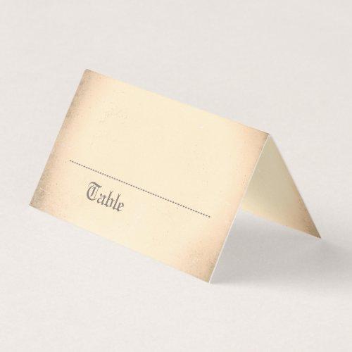 Gothic Skeleton Couple Name Place Card