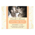 Graceful Deco Floral Save Date Announcements