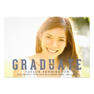 GRADUATE Graduation Announcement