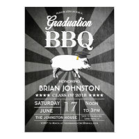 Graduation BBQ Invitations (Chalkboard)