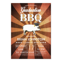 Graduation BBQ Invitations (Gold)