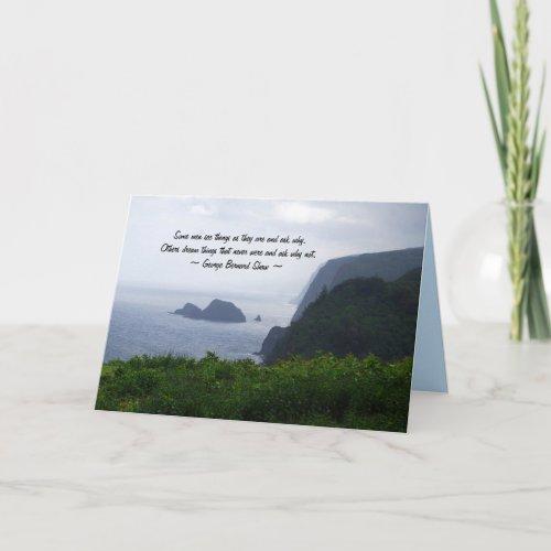 Graduation Inspiration, Hawaii Coast, Card card