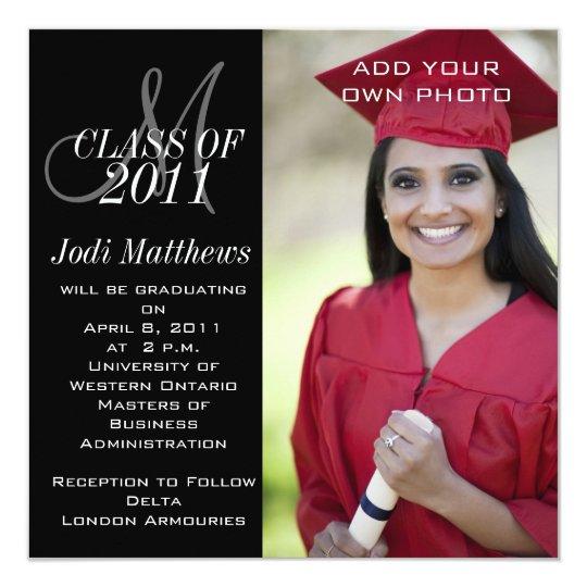 Masters Graduation Invitation
