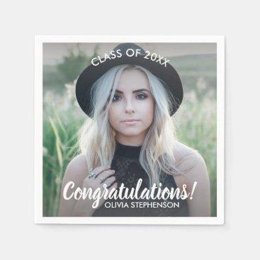 Graduation Photo Class 2018 Congratulations Custom Napkin