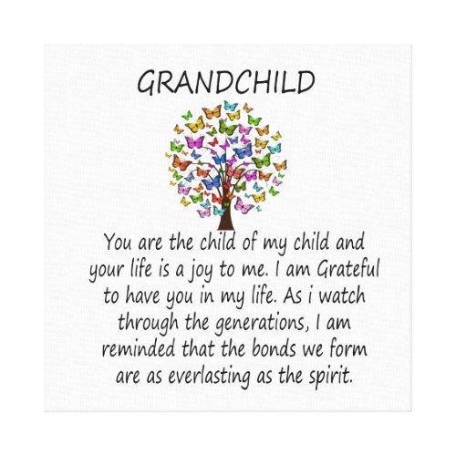 Grandchild Canvas Print