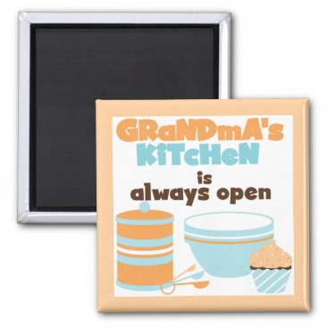 Grandma's Kitchen Always Open T-shirts and Gifts Magnet