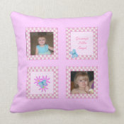 Grannys Little Angel:Spring Blooms: Picture Pillow throwpillow