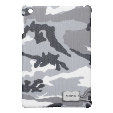 Gray and Black Military Camouflage iPad Mini Case