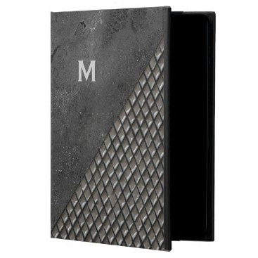 Gray Metallic Look Monogram iPad Air 2 Case