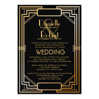 Great Gatsby Wedding Invitations By Lucky Luxe Couture Correspondence Via Oh So Beautiful Paper 2