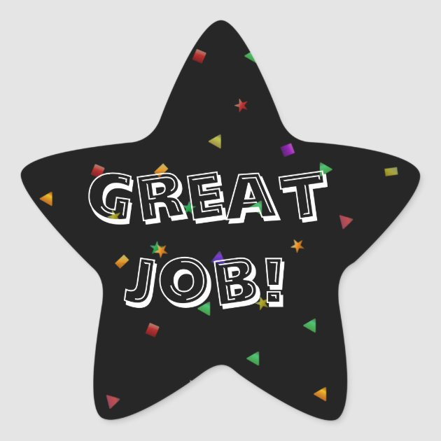 Great Job Reward Sticker