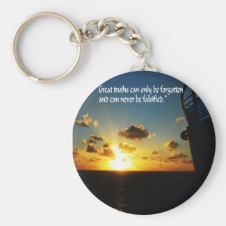 Great Truths Basic Round Button Keychain