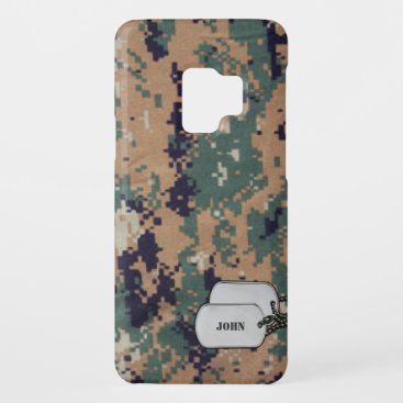 Green and Brown Digitral  Military Camouflage Case-Mate Samsung Galaxy S9 Case