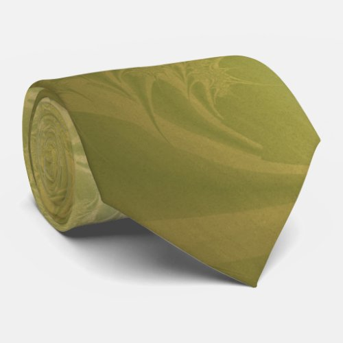Green and Gold Paisley Neck Tie
