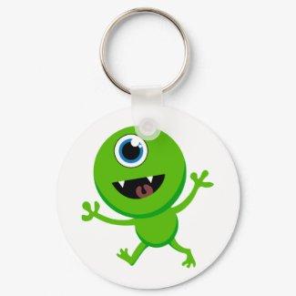 Green Baby Cyclops keychain