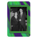 Green Blue Color Swish Photo Frame Rectangular Photo Magnet