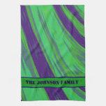Green Blue Color Swish Towel