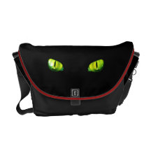 Green cat eyes messenger bag