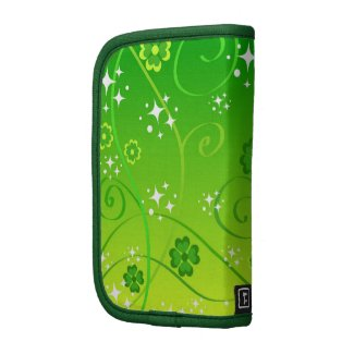 Green clovers and stars planners