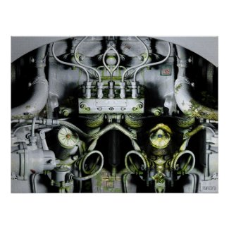 Green Engine Digital Artwork print